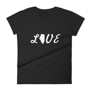 Love Illinois T-shirt for Women's