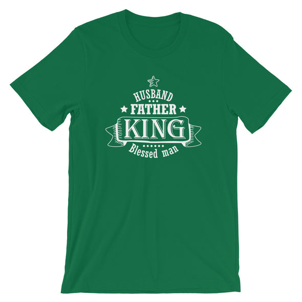 Husband Father King Blessed Man T-Shirt for Dads