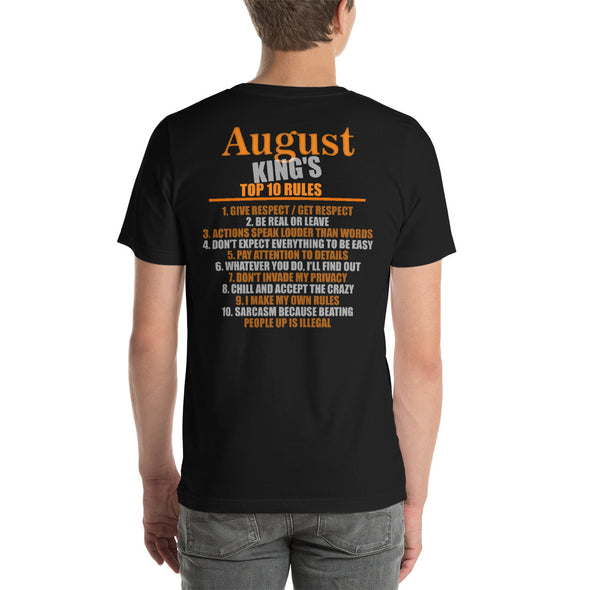 August King's Top 10 Rules Funny T-Shirt