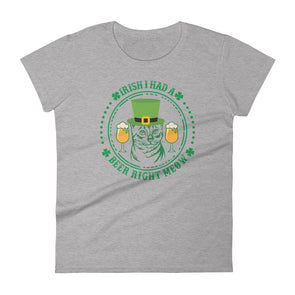 Irish I Had a Beer Right Meow T-Shirt for Women