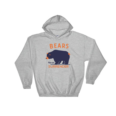 Bears Never Surrender Hooded Sweatshirt for Women