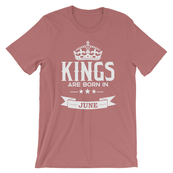 Kings are Born in June T-Shirt for Men