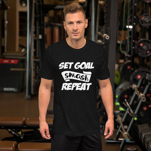 Set Goal Smash Repeat T-shirt for Men
