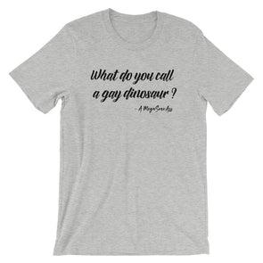 What Do you call a gay dinosaur? Unisex Shirt