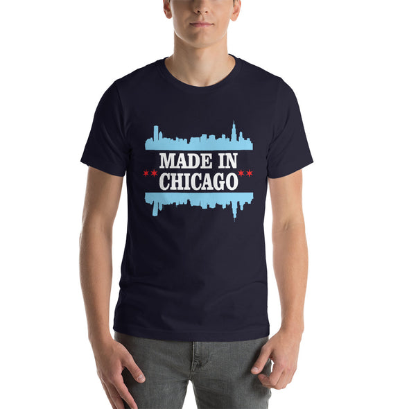 Made in Chicago Flag T-Shirt for Men
