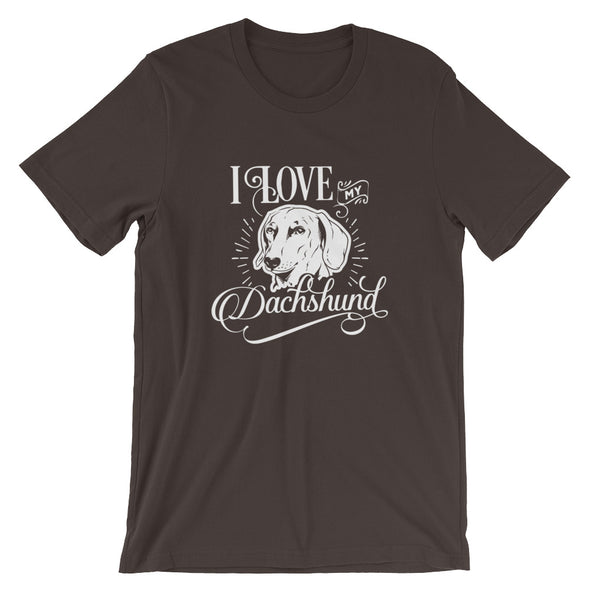 I Love My Dachshund T-Shirt for Men