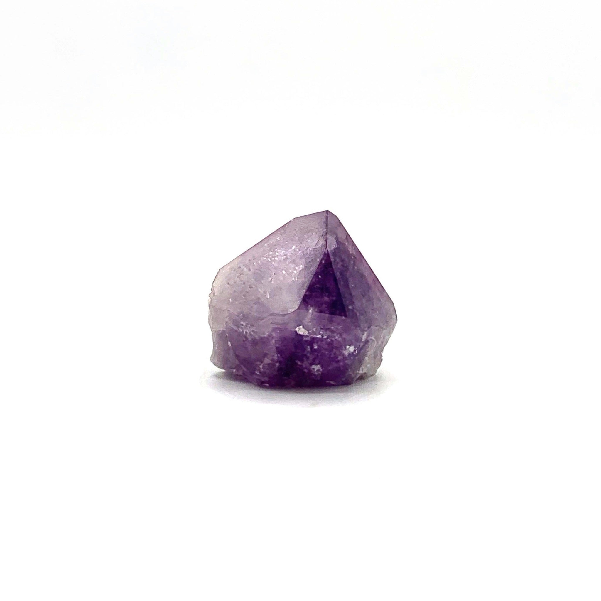Polished Amethyst Point w/ Rough Base