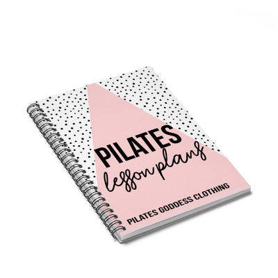 Pilates Lesson Plans Pink Spiral Notebook - Ruled Line
