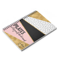 Pilates Notes, Journals & Dreams Spiral Notebook - Ruled Line