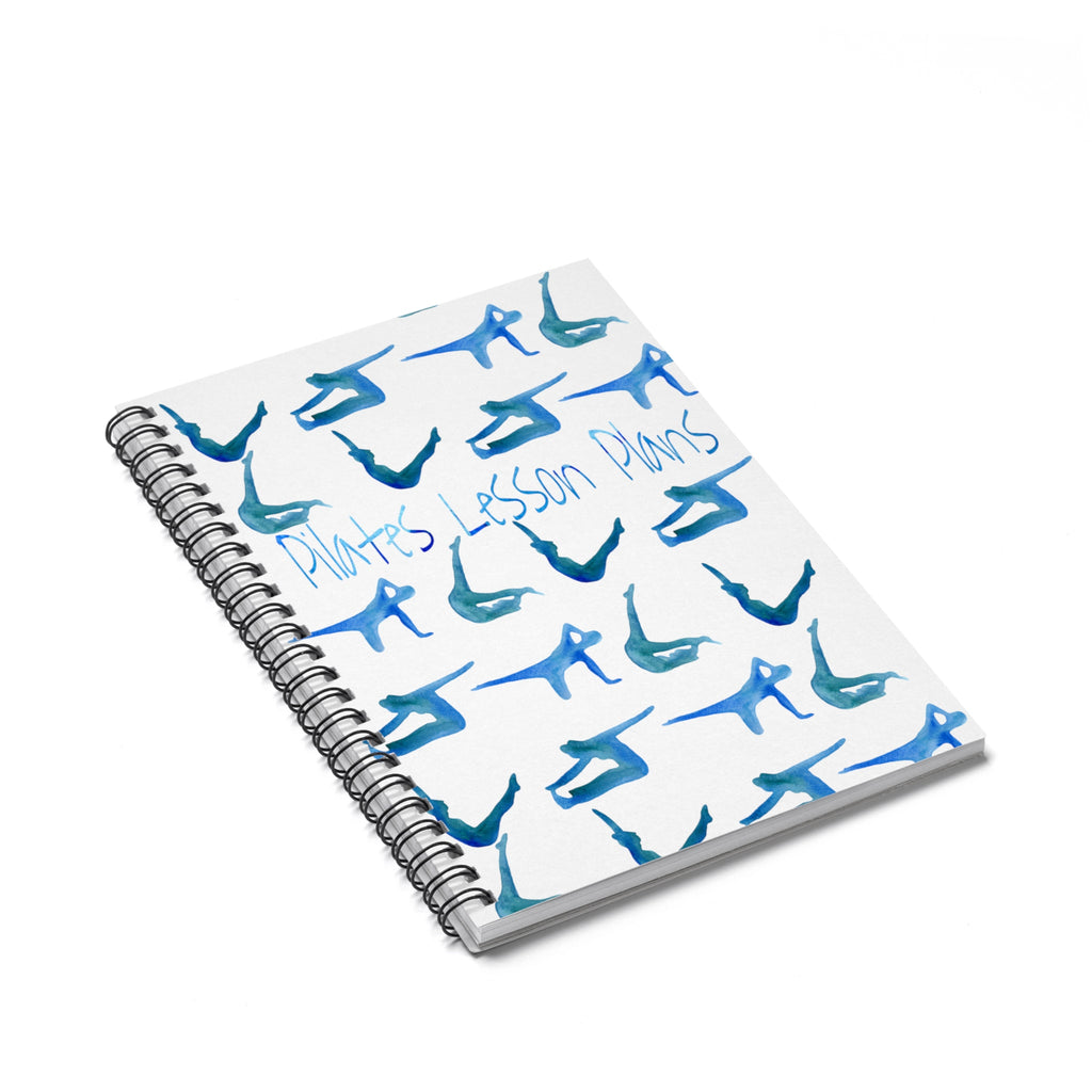 Watercolor Pilates Spiral Notebook - Ruled Line