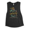 Rise and Shine! It's Pilates Time! Ladies' Muscle Tank