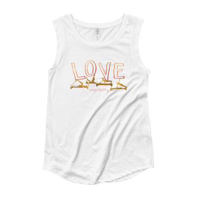 Love Pilates Ladies' Cap Sleeve T-Shirt