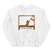 Swan on Cadillac In Animal Print Sweatshirt