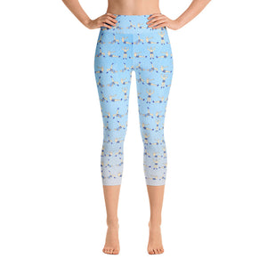 Pilates Doodles High Waisted Capri Leggings