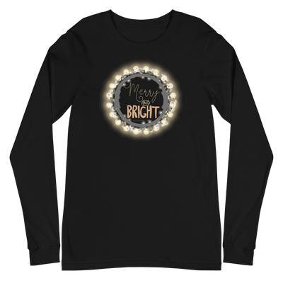 Merry and Bright White Long Sleeve Tee