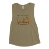 Animal Print Swan on Cadillac Ladies' Muscle Tank