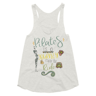 Pilates Is A Journey Women's Tri-Blend Racerback Tank