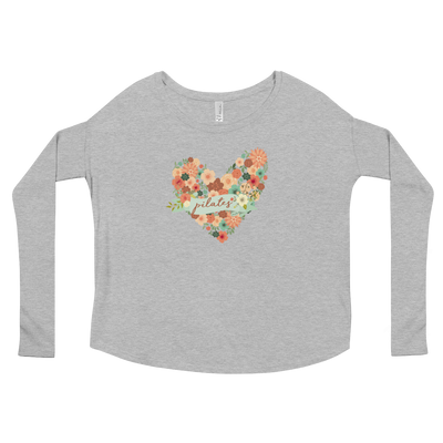 Pilates Floral Heart Ladies' Long Sleeve Tee