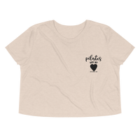 Pilates Has My Heart Embroidery Crop Tee