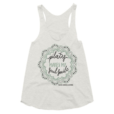 Pilates Makes My Soul Smile Women's Tri-Blend Racerback Tank