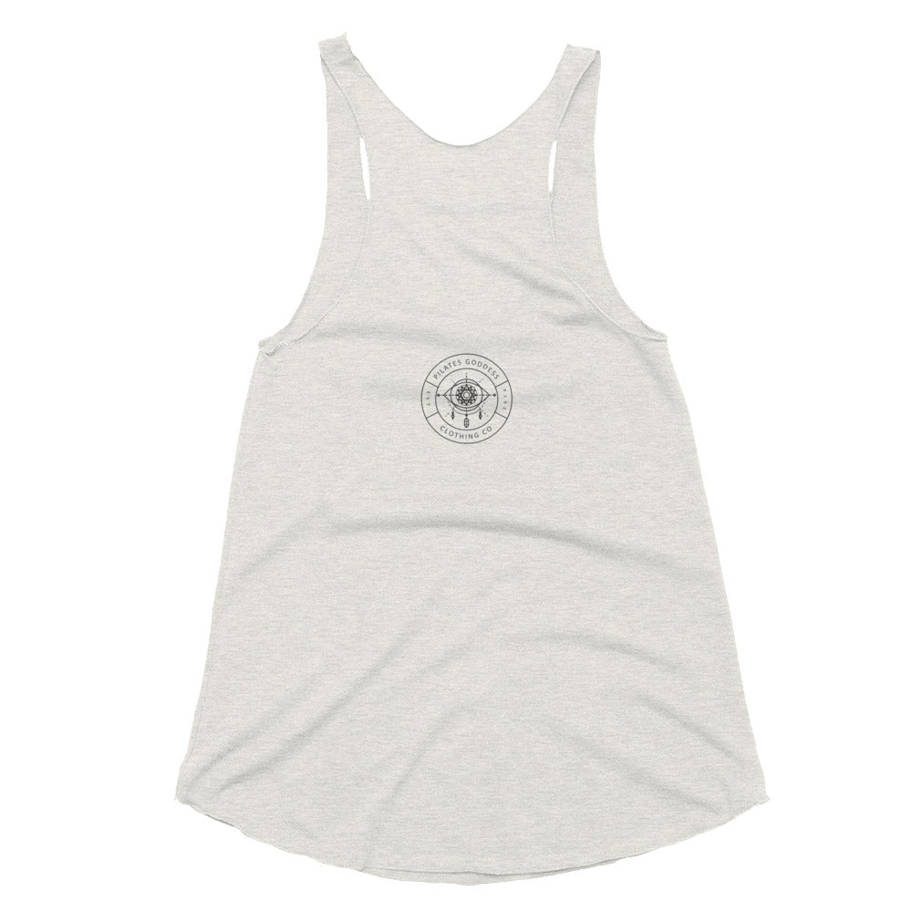 Step Barrel Watercolor Women's Tri-Blend Racerback Tank