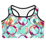 Watercolor Triangle Magic Circle Sports Bra