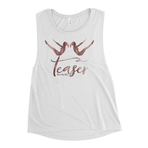 Rose Gold Teaser Ladies' Muscle Tank
