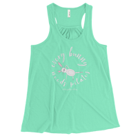 Every Bunny Needs Pilates Women's Flowy Racerback Tank