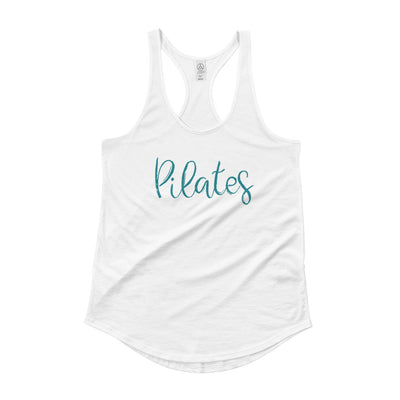 Pilates- Be Kind To Your Spine Ladies' Shirttail Tank