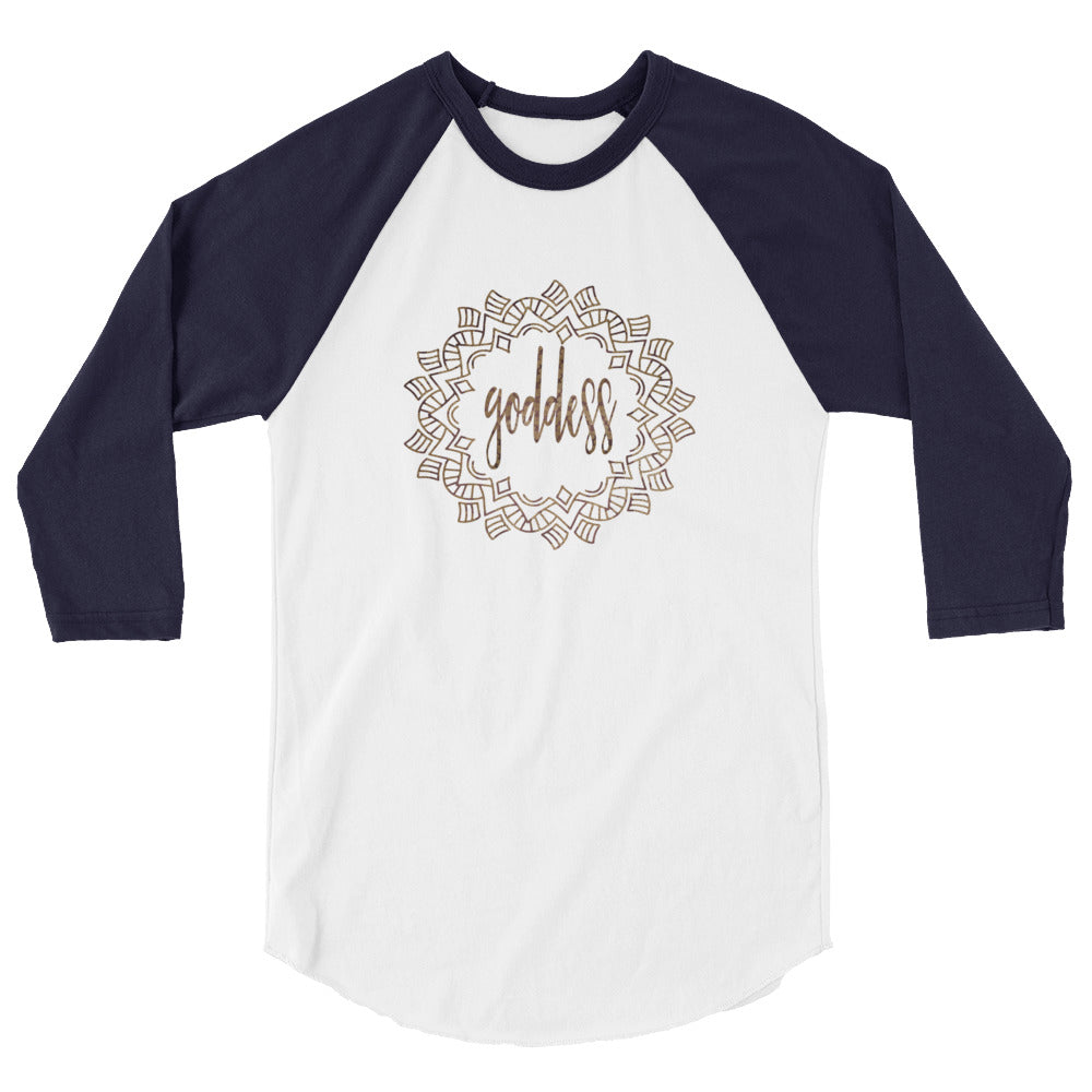 Goddess 3/4 sleeve raglan shirt