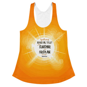 """Never Fail to Get All The Sunshine and Fresh Air You Can Get"" - Joseph Pilates Women's Racerback Tank"