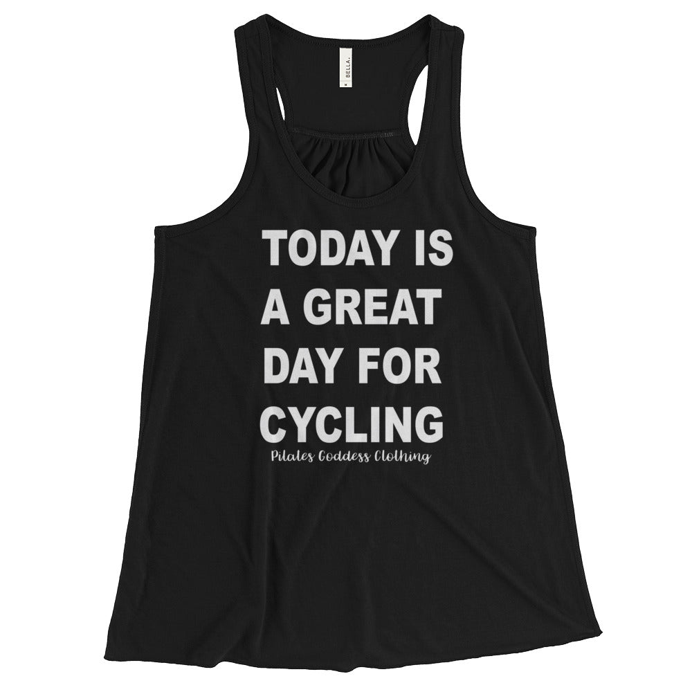 Today Is A Great Day for Cycling Women's Flowy Racerback Tank