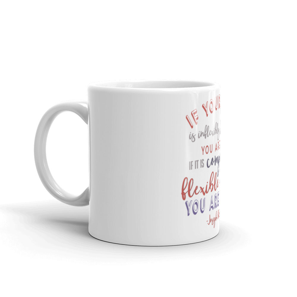 """If Your Spine Is Inflexibly Stiff at 30, You Are Old. If it is Completely Flexible at 60, You Are Young"" -Joseph Pilates Quote Mug"