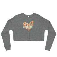 Pilates Floral Heart Crop Sweatshirt