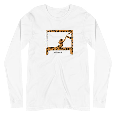 Animal Print Swan on Cadillac Long Sleeve Tee