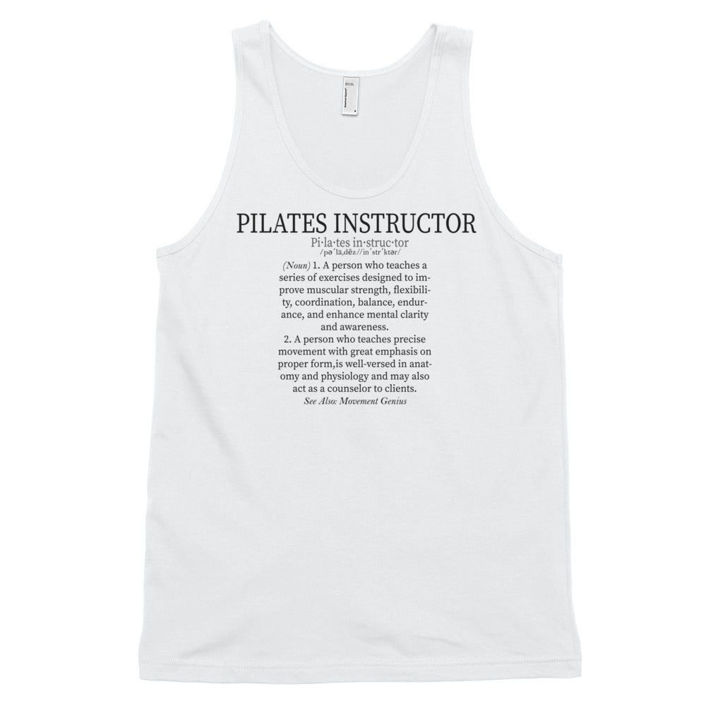 Pilates Instructor Definition Classic tank top (unisex)