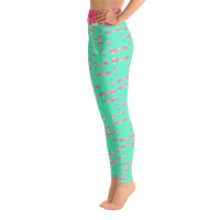 Tower Peonies High Waisted Leggings