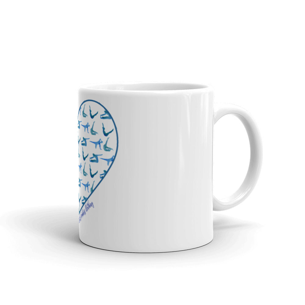 Pilates Pose Heart Mug