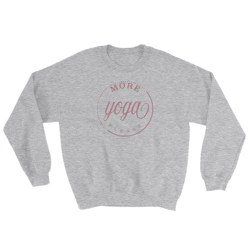 More Yoga Please Crew Sweatshirt