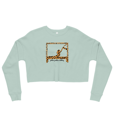 Animal Print Swan on Cadillac Crop Sweatshirt