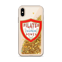 Pilates Is My Super Power Liquid Glitter Phone Case