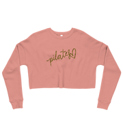 Pilates Script Heart Crop Sweatshirt