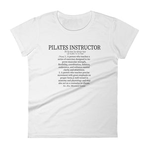 Pilates Instructor Definition Women's short sleeve t-shirt