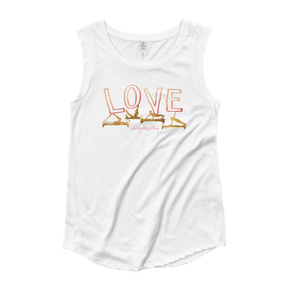 Love Pilates Right Balance Ladies' Cap Sleeve T-Shirt
