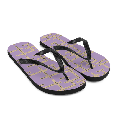 Word Tile Pilates Flip-Flops