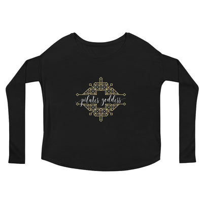 Pilates Goddess Ladies' Long Sleeve Flowy Tee
