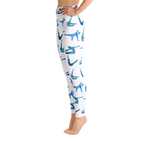 Watercolor Pilates High Waisted Leggings