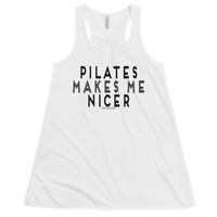 Pilates Makes Me Nicer Women's Flowy Racerback Tank