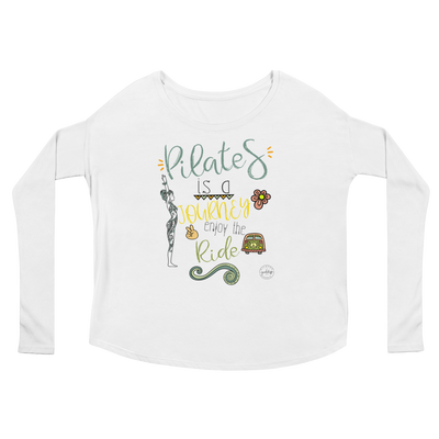 Pilates Is A Journey! Ladies' Long Sleeve Tee