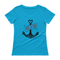 Pilates Forever! Ladies' Scoopneck T-Shirt